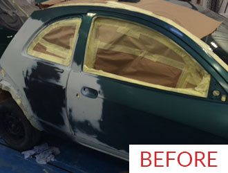 Respray before